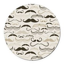 Mustaches Round Car Magnet