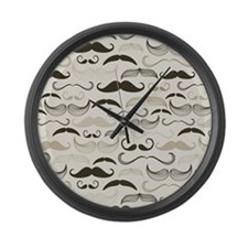 Mustaches Large Wall Clock