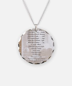 Pope Francis St. Francis SIM Necklace