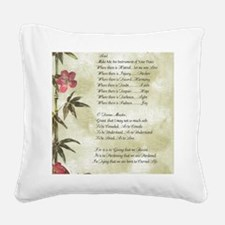 Pope Francis St. Francis SIMP Square Canvas Pillow