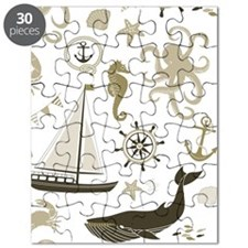 Beige Ocean Puzzle
