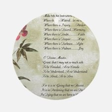 Pope Francis St. Francis SIMPLE PRA Round Ornament