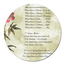 Pope Francis St. Francis SIMPLE P Round Car Magnet