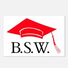 Red BSW Grad Cap Postcards (Package of 8)
