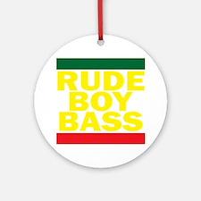 Rude Boy Bass Round Ornament