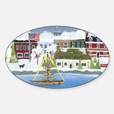 Annapolis Christmas Sticker (Oval)
