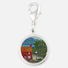 Dream Cottage Silver Round Charm