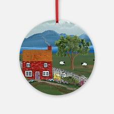 Dream Cottage Round Ornament