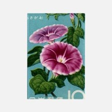 Vintage 1961 Japan Morning Glory  Rectangle Magnet