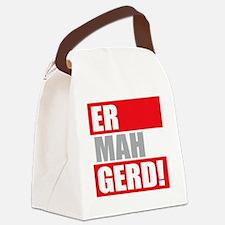 ER MAH GERD! Canvas Lunch Bag