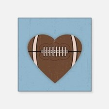"""football-heart-BUT Square Sticker 3"""" x 3"""""""