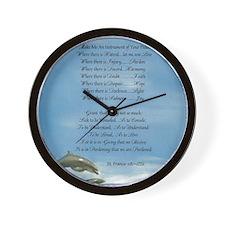 Pope Francis St. Francis SIMPLE PRAYER- Wall Clock