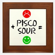 Plus Pisco Sour Equals Happy Framed Tile