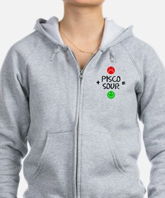 Plus Pisco Sour Equals Happy Zipped Hoody