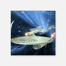 "Star Trek Mouse Pad Square Sticker 3"" x 3"""