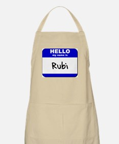 hello my name is rubi  BBQ Apron