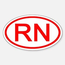 RN Oval (Red) Oval Decal