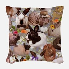 Happy Bunnies Woven Throw Pillow