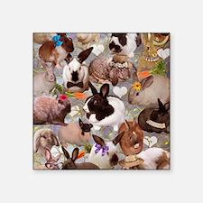 "Happy Bunnies Square Sticker 3"" x 3"""