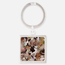 Happy Bunnies Square Keychain
