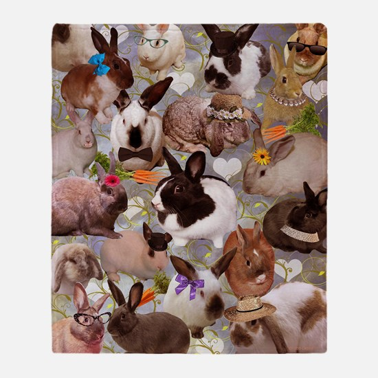 Happy Bunnies Throw Blanket