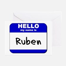 hello my name is ruben  Greeting Cards (Package of