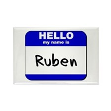 hello my name is ruben Rectangle Magnet