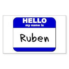 hello my name is ruben Rectangle Decal