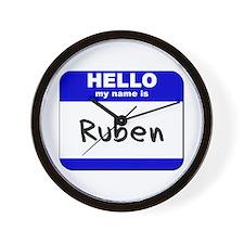 hello my name is ruben  Wall Clock