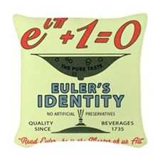 Euler's Identity : The Pure Ta Woven Throw Pillow