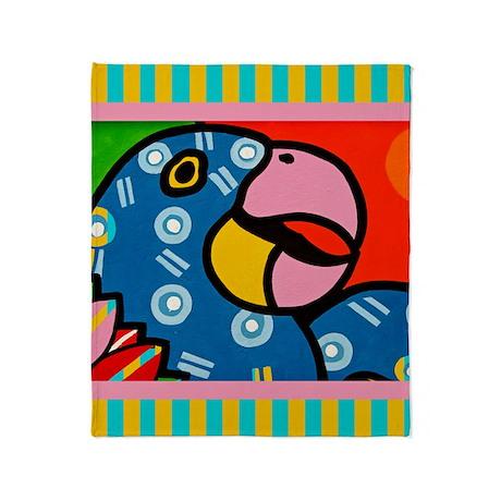 Parrot Shower Curta... Throw Blanket