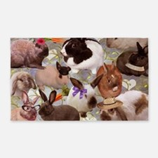 Happy Bunnies 3'x5' Area Rug
