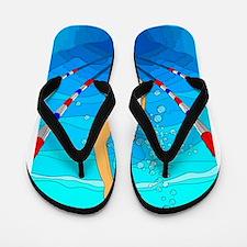 Woman swimming Flip Flops