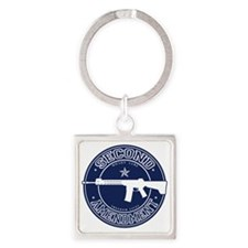 2A - Rifle - Architect Square Keychain