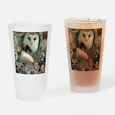 Happy Owls Drinking Glass