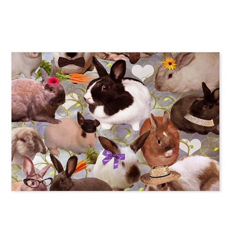 HappyBunniesBlanket Postcards (Package of 8)