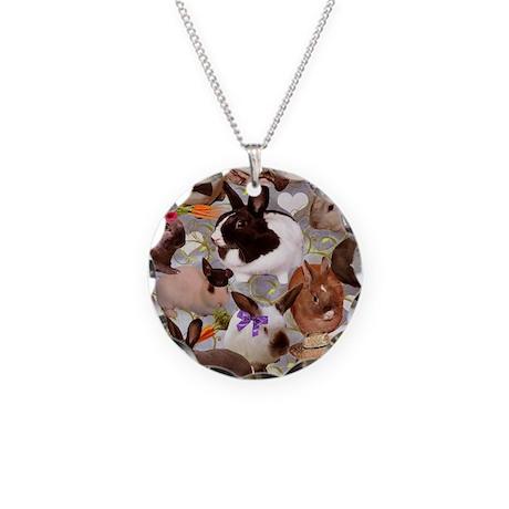 HappyBunniesBlanket Necklace Circle Charm
