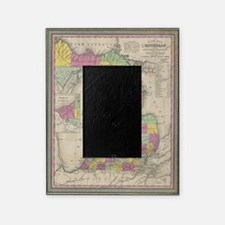 Vintage Map of Michgan Picture Frame