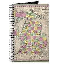 Vintage Map of Michgan  Journal