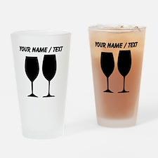 Custom Wine Glass Silhouettes Drinking Glass