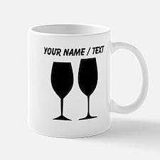 Custom Wine Glass Silhouettes Mugs