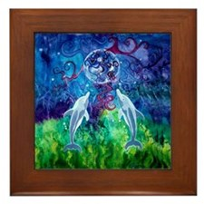 Dolphin Gaze 6 Inch Framed Tile