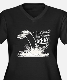 I Survived Hurricane Irma Plus Size T-Shirt