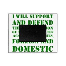 supportanddefendGREEN Picture Frame