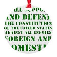 supportanddefendGREEN Ornament