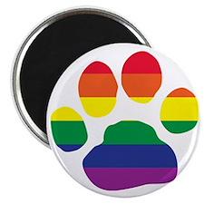 Gay Pride Paw Print Magnet