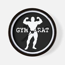 Gym Rat Bodybuilder Wall Clock