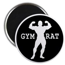 Gym Rat Bodybuilder Magnet