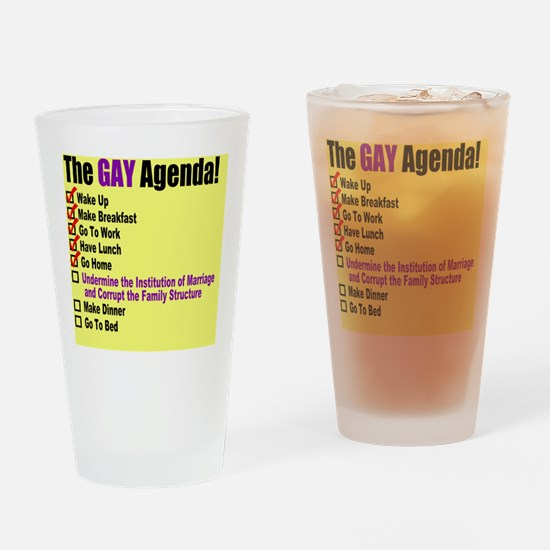 Gay Agenda Marriage Drinking Glass