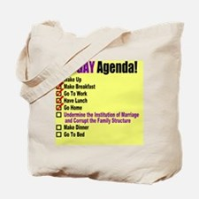 Gay Agenda Marriage Tote Bag